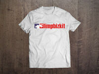 Limp Bizkit Men White T-shirt Rock Band Fan Tee Metal Shirt