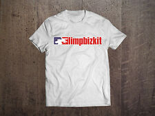 Limp Bizkit Men White T-shirt Rock Band Fan Tee Metal Shirt