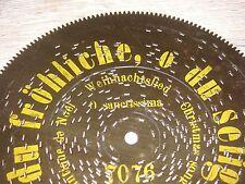 "O du fröhliche Gloriosa Blechplatte 19,5cm antik music box christmas disc 7 5/8"""