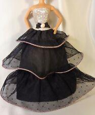 Brillante Melocotón Y Negro Vestido De Gala Vestido para muñeca Barbie o similar Muñeca Barbie Etiqueta