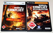 PC SPIELE SET - WORLD IN CONFLICT UNCUT EDITION & ADD ON SOVIET ASSAULT COMPLETE