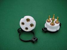 1 x UX4 Präzisions-Röhrenfassung Gold Keramik für 300B 2A3 45 Röhrenverstärker