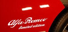 ALFA ROMEO LIMITED EDITION STICKER PEGATINA MITO GIULIA GIULIETTA 159 147 SPIDER