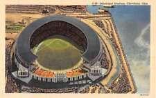 Cleveland Ohio Municipal Stadium Birdseye View Antique Postcard K87653