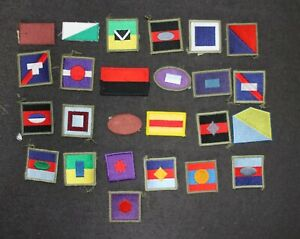 MODERN AUSTRALIAN ARMY COLOR COLOUR PATCHES DIVISIONAL FORMATION SIGNS X 25 #2