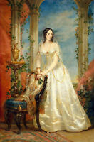 Oil painting Кристина Робертсон nice Russian young noble lady wearing dress art