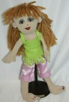 "FRIENDS 2B MADE DOLL BUILD BEAR Plush Light Brown Hair BROWN EYES  15"" TALL"