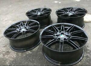 "Genuine BMW MV4 19"" Alloy Wheels: High Gloss Black 3 SERIES E90 E91 E92 E93 F30"