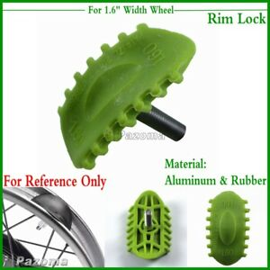"Motorcycle Gree 1.6"" Wheel Rim Lock Fits Yamaha Kawasaki GasGas Suzuki Rubber"
