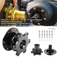 Aluminum Black Steering Wheel Detachable Quick Release Adapter Hub For Ford