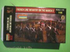 NEU 1:72 Strelets #220 Napoleon Frankreich Infanterie Mantel marschierend Set 2