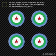 """(4x) 1.5"""" Djiboutian Air Force Roundel Sticker Die Cut DAF FAdD Djibouti DJI DJ"""