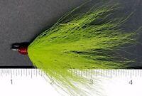 6 Gold Flash 4//0 Dressed Bucktail Teaser Hooks for Fluke Cod Plugs Rigs Lures