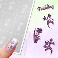 Stencils Airbrush + Nailart set89 Spring Flowers Floral Easter Adhesive Set