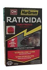 Cebo fresco raticida MURIBROM 150g veneno contra ratas ratones SUPER ATRAYENTE