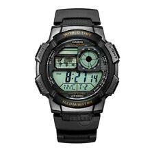 Men's CASIO 3198 Black Military Watch AE-1000W w/ World Map & World Time *LOOK*