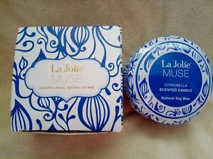 La Jolie Muse Scented Candle Citronella Natural Soy Wax