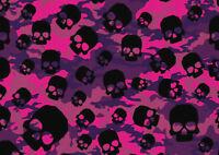 A1  Black Skull Poste Art Print Size 60 x 90cm Halloween Wall Decor Gift #14221