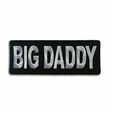 Embroidered Big Daddy Sew or Iron on Patch Biker Patch