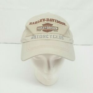 Harley-Davidson Mens Embroidered Roundbill Khaki Baseball Cap