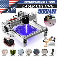 500MW DIY Mini Laser Engraving Cutting Machine Desktop Printer Kit Adjustable