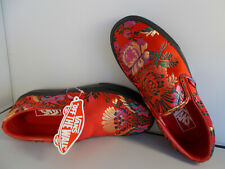 VANS Classic Slip-On Festival Satin Red Shoes Women's Size 5.5 New In Box