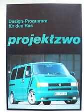 Prospekt Volkswagen Bus T4 - Design Programm von projektzwo, ca.1990, 4 Seiten