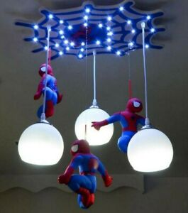 Modern New Creative Spiderman Pendant Lamp Children's Room LED Ceiling Lighting
