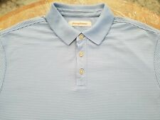 Tommy Bahama Mens Large Light Blue Modal Blend Short Sleeve Polo Shirt