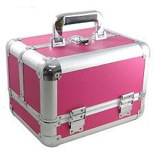 Beauty Case Make Up Nail Art Rosso XXL Valigia Cofanetto Porta Gioie Oggetti