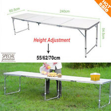 8ft Aluminum Portable Folding Beer Pong Table Party Drinking Games Garden BBQ UK