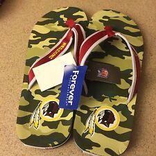Washington Redskins NFL Traditional Camo Contour Flip Flops size Large 11-12,NWT