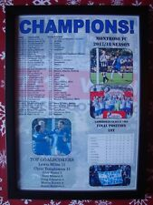 Montrose FC Scottish League Two champions 2018 - framed print