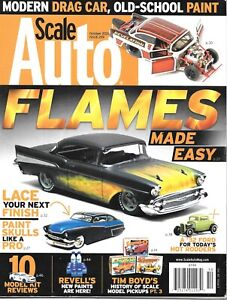 Scale Auto Enthusiast Oct. 2020 Last Issue Painting Flames Custom Paint 32 Ford