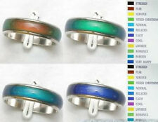 Wholesale Jewelry Lots 10pcs Stainless steel Change color Emotional mood rings