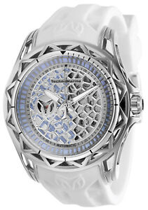 TechnoMarine Men's Technocell TM-318036 44mm Silver Dial Silicone Watch