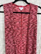 LuLaRoe Joy Small Knit Acrylic Red Black NWT