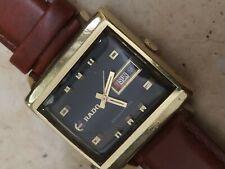 Nice vintage Rado Manhattan automatic men wrist watch Black dial