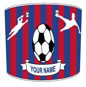 Personalise Football Teams Lampshades Ideal To Match Soccer Wall Decals Stickers