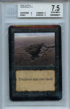 MTG Alpha Sinkhole BGS Graded 7.5 NM+ Card Magic The Gathering WOTC 6631