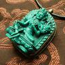 Wunderschönes BUDDHA AMULETT GRÜNE Tara TÜRKIS Nepal