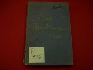 VINTAGE COLLECTIBLE 1948 MAX BECKMANN BOOK OF EXHIBITION BY ST. LOUIS ART MUSEUM