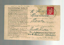 1943 Germany Dachau Concentration Camp Lettersh Cover Kazimierz MIECZNIKOWSKI KZ
