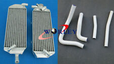 FOR Suzuki RM250 RM 250 1996-2000 97 98 99 00 aluminum radiator & hose WHITE
