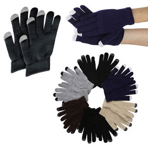 6-12 Men Women Winter Assorted Touch Screen Gloves Smart Phone Tablet Mitten Lot