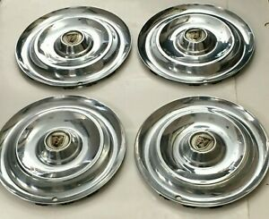 1956 Chrysler New Yorker Hubcap Set 4 Wheel Covers Pre Owned Nice Used Set