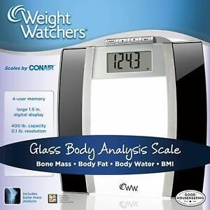 Conair WW78 Weight Watchers Glass Body+Bone Analysis Digital Scale (Damaged Box)