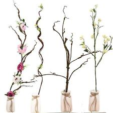 Artificial Branch Flowers - Real Touch Bark Moss Plants Wood Decoration