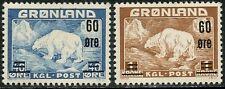 Greenland Sc#39-40 1956 Revalued Complete Mint Og Lh