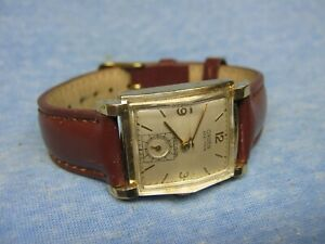 "Men's Vintage GRUEN ""Veri-Thin / Precision"" 14K Gold Mechanical Watch"